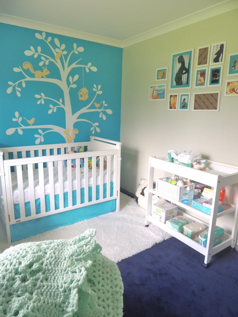 quarto bebe tema jardim:decor jardim azul e amarelo projectnursery