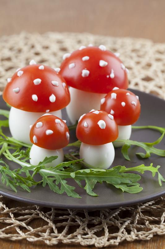 canape festa cogumelos