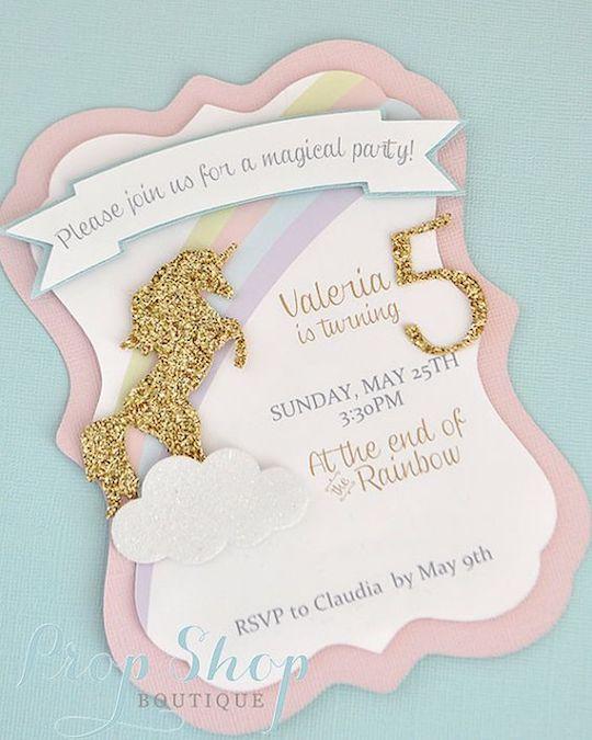 convite de unicornio