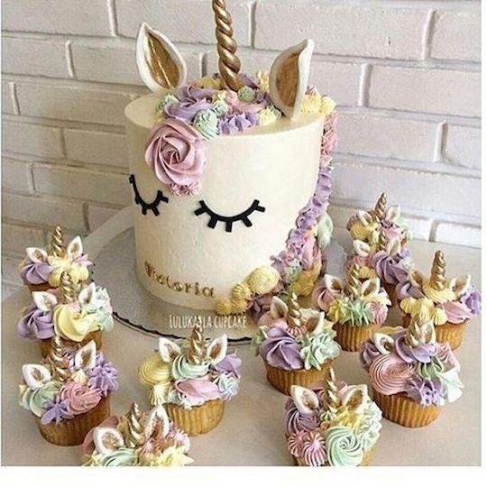 bolo de unicórnio